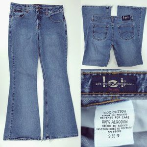 Vintage Late 90s Y2K LEI Big Flare Jeans 9 31x32